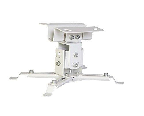 Luxburg Universele projector aluminium plafondbeugel kit tot 15 kg belastbaar, 30° helling, wit