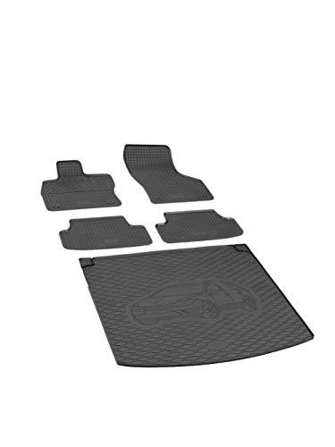 Kofferraumwanne und Gummifußmatten RIGUM geeignet für Seat Leon ST Kombi 2013-2020 Perfekt angepasst + Auto DUFT
