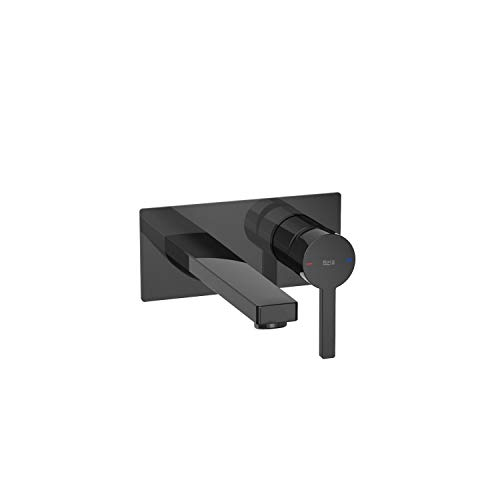 Mezclador grifo monomando empotrable para lavabo, serie Naia, 16 x 6,2 x 16 centímetros, color negro titanio (Referencia: A5A3596CN0)