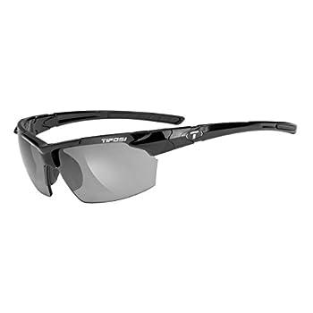 Tifosi Jet 0210400270 Wrap Sunglasses,Gloss Black Frame/Smoke Lens,One Size