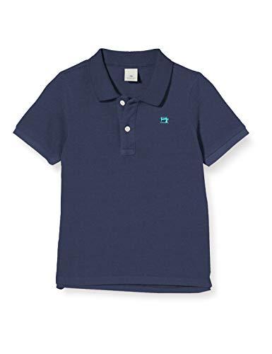 Scotch & Soda Shrunk Jungen Baumwoll-Piqué Poloshirt, Blau (Night 0002), 164 (Herstellergröße: 14)