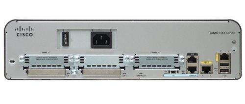 Cisco 1941 - Router w/2 GE,2 slot EHWIC, 256 MB CF, 256 MB DRAM, base IP