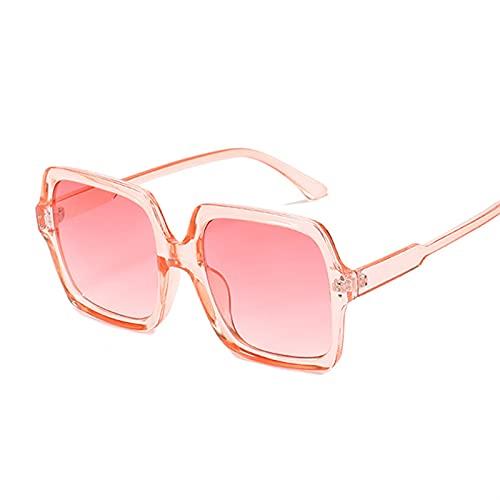 Gafas duraderas Vintage Square Gafas de Sol Mujeres Big Frame Gradiente Gafas de Sol Femenino Moda Retro Negro Rosa (Lenses Color : Pink)