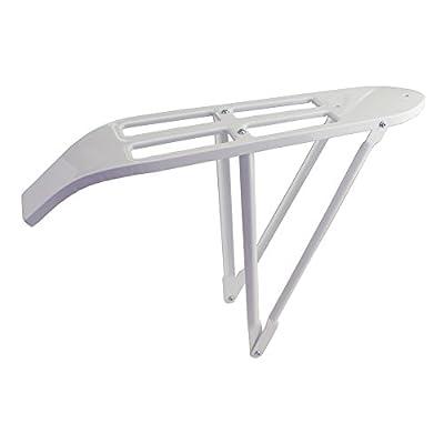 """Fenix Cycles Vintage Steel 26"""" Cruiser Bike Rear Rack, 5in W x 23in L, (White)"""