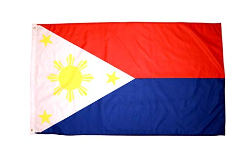 High Supply 3x5 Philippines Flag with Two Brass Grommets, Double Stitched Edges, and 100% Polyester Fabric, 3x5 Foot Philippine Flag, Filipino Flag, Philippines Flag