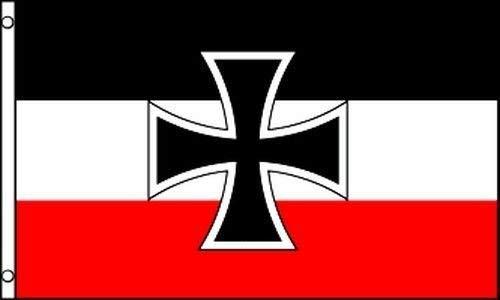 Zudrold 3x5 alemán Alemania Jack Cruz de Hierro 1871 1918 Bandera de la Primera Guerra Mundial 3 'x5' Banner Ojales de latón