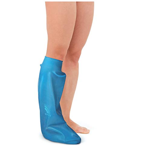 Bloccs Waterproof Cover for Plaster Cast Leg, Swim, Shower & Bathe. Watertight Protector, Adult Short Leg