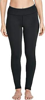 Coolibar UPF 50+ Women s Santa Cruz Swim Leggings - Sun Protective  Medium- Black