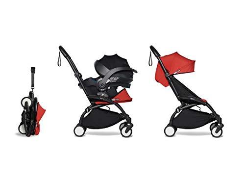 Babyzen Poussette Pratique et légère YOYO 2 Rouge avec siège Auto bébé iZi Go Modular - Noir 6+