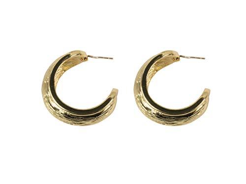 Zara - Pendientes de aro de latón chapado en oro
