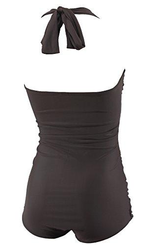 Aloha-Beachwear Damen Badeanzug A3012 Braun Gr. 36 - 3
