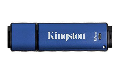 Kingston DTVP30 8GB Speicherstick USB 3.0 (256-Bit: Hardwareschlüsselung) blau
