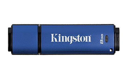 Kingston Digital 8GB Data Traveler AES Encrypted Vault Privacy 256Bit 3.0 USB Flash Drive (DTVP30/8GB)
