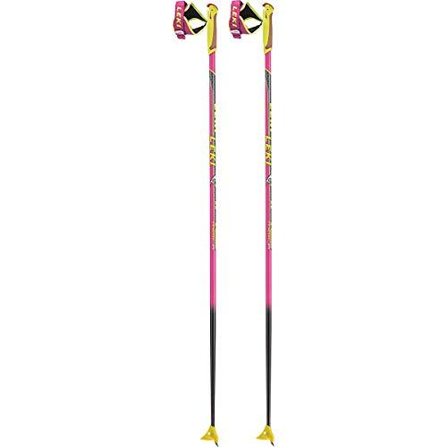 LEKI Kinder HRC Langlaufstöcke, neonpink-Neongelb-anthrazit, 115cm