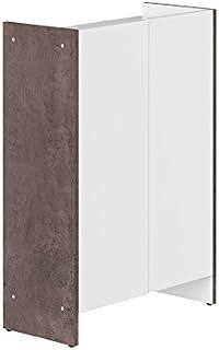 Symbiosis 6210A0621A00 -Mueble bajo contemporáneo de 2Puertas hormigón Color Blanco 60x 28x 895cm