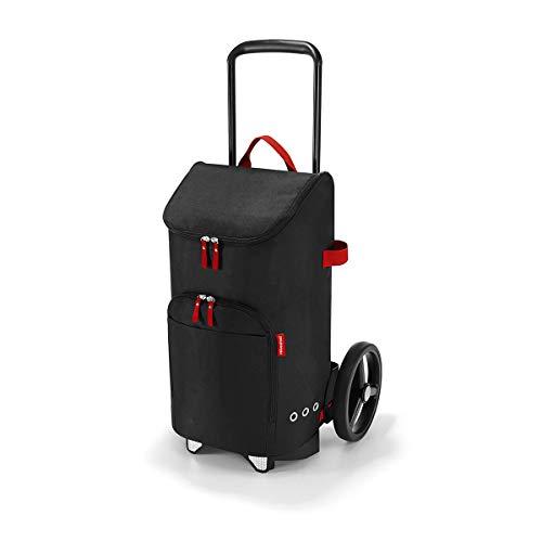 reisenthel citycruiser Rack + citycruiser Bag Set – moderner, robuster Einkaufstrolley aus Aluminium, leichtlaufende Rollen - große Einkaufstasche, 34x60x24 cm, 45 l, Black (7003)