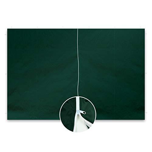 Nexos GM36245 2 Stück Seitenwände Seitenteile ohne Fenster mit Reißverschluss für Falt-Pavillon – 298 x 216 cm/PE 180 g/m² – hochwertig – Farbe wählbar (Grün)