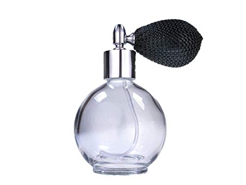 Frasco de cristal con atomizador para perfume, recargable, redondo, vacío; con atomizador...