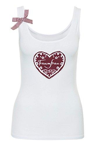 Hailys Damen Tank Top T-Shirt Shirt Oktoberfest (XL, White)
