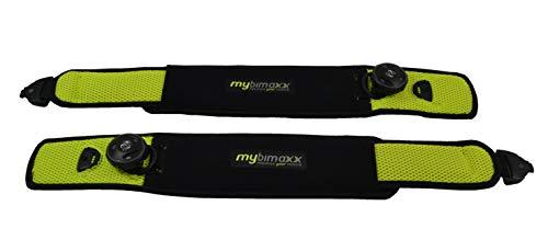 mybimaxx BFR (Blood Flow Restriction) Bandagen - für die Beine, Farbe: Lime