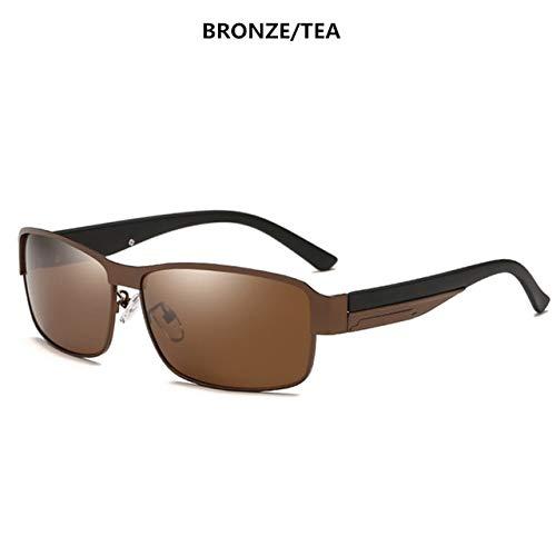 TYJDQXX Gafas de Sol polarizadas de los Hombres de Las Gafas de...