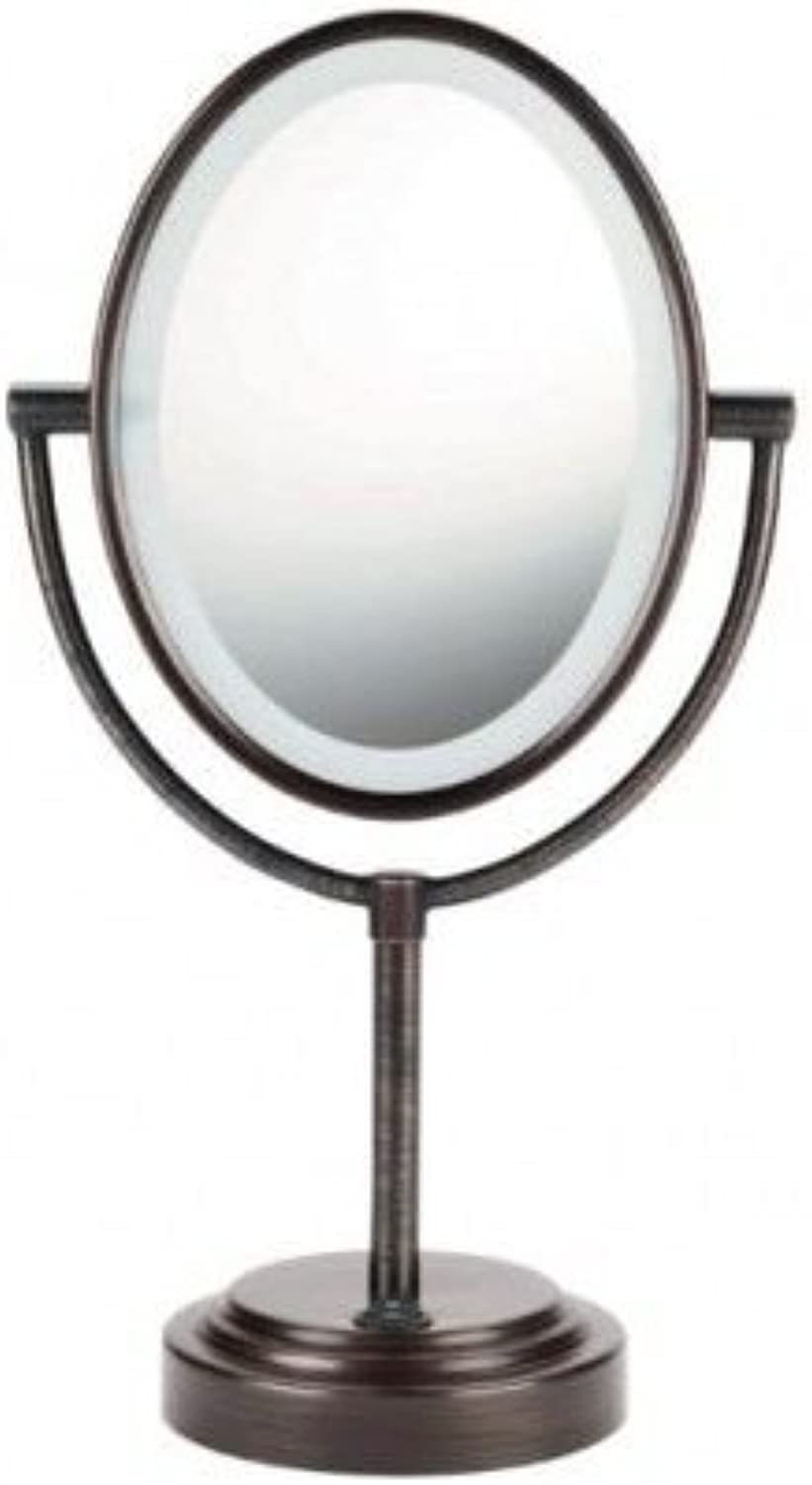 Makeup Mirror,Lighted Double Sided Magnifying Stand Vanity Bathroom Compact