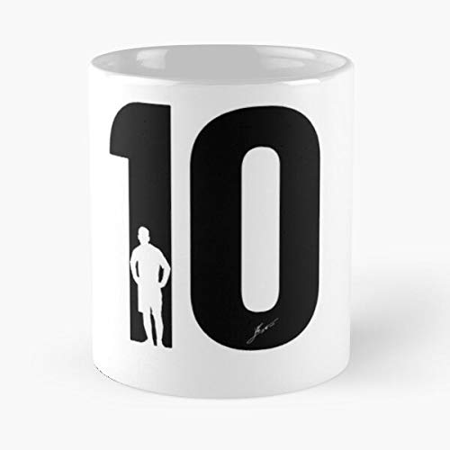 Leo Messi - Taza de café de cerámica de mármol blanco