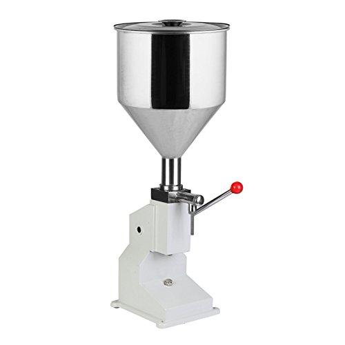 BuoQua A03 Abfüllmaschine Pneumatische Flüssige Manuelle Füllmaschine aus Edelstahl von 5 ML bis 50 ML Kolben Abfüllgerät für Shampoo,Öl,Wasser,Parfüm,Kosmetik usw.(5 - 50 ML)