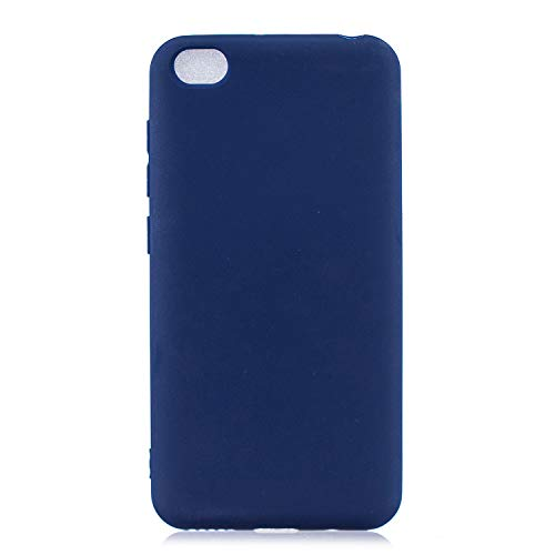 cuzz Funda para Xiaomi Redmi GO+{Protector de Pantalla de Vidrio Templado} Carcasa Silicona Suave Gel Rasguño y Resistente Teléfono Móvil Cover-Azul Oscuro
