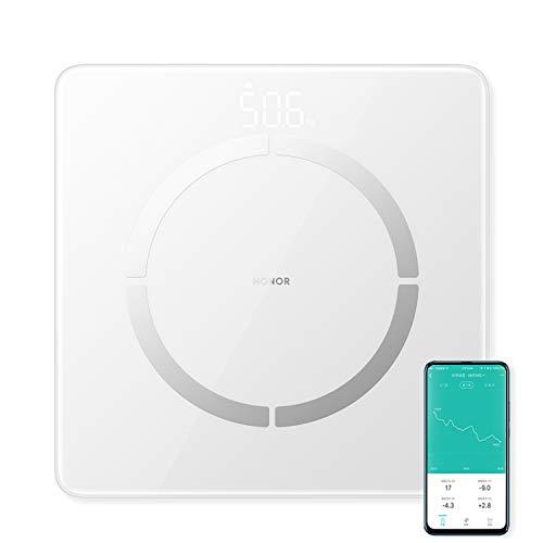 Honor Scale 2 Balance de salle de bain intelligente Graisse corporelle Bluetooth, 14 indicateurs clés (IMC/Poids/Fréquence cardiaque/Analyse de la composition du corps)