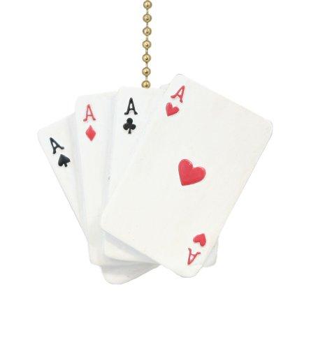 Póker Hand Aces Hearts Diamonds Spades Clubs - Ventilador de techo