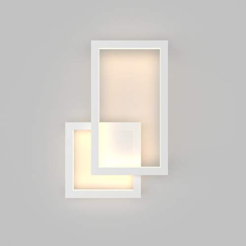 Klighten LED Wandleuchte,28W,1960LM,Mordern Wandlampe Innen,230V Warmweiß 2700K-3200K,Dekorative Wandleuchten Nachtlampe Für Schlafzimmer, Wohnzimmer,Weiß