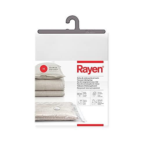 Rayen - Bolsas al vacío para ropa. Funda de almacenamiento al vacio para ropa. Bolsa de almacenaje para guardar ropa al vacío. 55 x 90 cm. Transparente