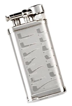 IM Corona »Old Boy« Pfeifen-Feuerzeug Silber mit Pfeifenmotiv