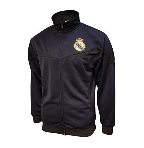 Icon Sports Boys Striker Full-Zip Track Jacket UEFA Champions League Soccer Real Madrid, Alternate, Small