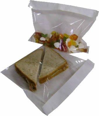 100 witte film voorzijde duidelijk cellofaan papier venster sandwich voedsel foto display tassen