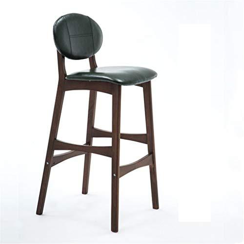 Taburetes de Muebles de Entretenimiento-CJiaJ Silla de madera maciza Silla minimalista moderna Taburete alto Taburete de bar Cafetería Silla con pedal 8 colores ( Color : H#1 , Size : 75CM )