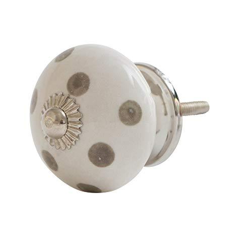 Knober MAC 39 - Pomo para muebles (cerámica, porcelana, 40 mm), color crema