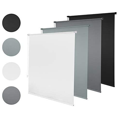 Laneetal Estor Opaco Persianas Enrollables Evitar Rayos UV y Sol Fácil Instalar Poliéster 70x210 cm Color Blanco