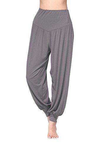 BeautyWill Haremshose/Yogahose/Jogginghose/Yoga Pilates Hosen/Yoga pants Hose für Damen - für Sport und Training aus 95% Modal L, Dunkelgrau