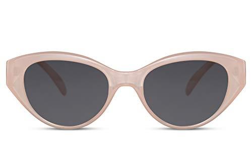 Cheapass Gafas de Sol V Ojo de gato Gafas de sol Lechoso Rosa Marco y Oscuras Lentes Protección UV400 para Mujeres