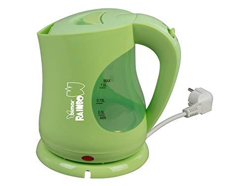 Bimar WK107.EU Bollitore Elettrico, 2200 W, 4 Cups, Acciaio Inossidabile, Verde Lime