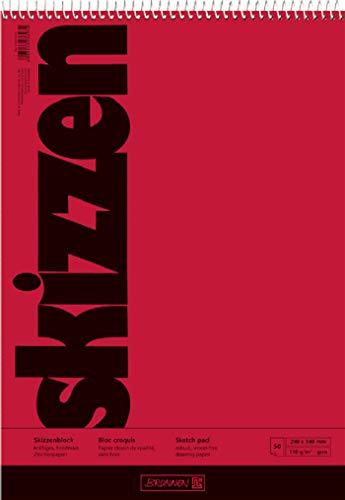 Brunnen 1047450 Zeichen-/Skizzenblock (24x34cm, 110 g/m² 50 Blatt, mit Spirale)