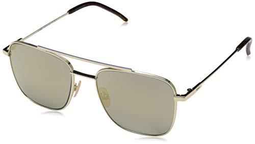 FENDI Herren FF M0008/S JO 3YG 55 Sonnenbrille, Gold (Gold/Grey)
