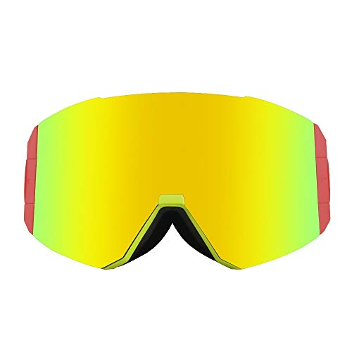 MDYHJDHYQ Motorrad-Schutzbrille Große zylindrische Linse Skibrille Doppel Antifog Brille Mountaineering Skibrille (Color : F2, Size : 19.5 * 10cm)