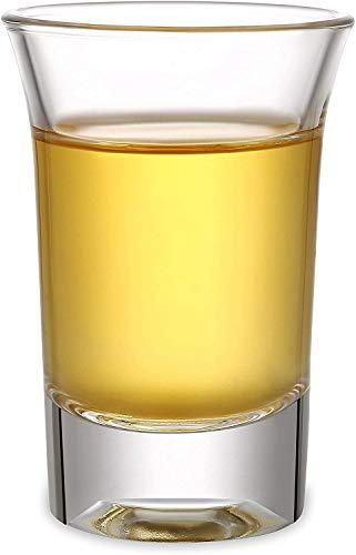 Juego de 24 Vasos de Chupito de Cristal de 4 cl - Base Estable - Aptos para Lavavajillas - Para Chupitos de Vodka, Tequila