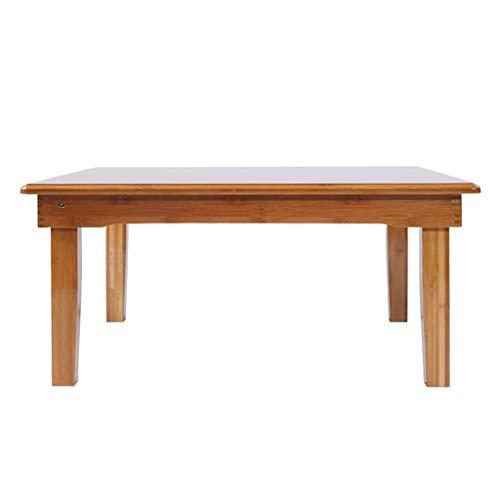 Tables Basse en Bois Basse Moderne Simple Basse en Tatami Salon Basse en Baie Vitrée D'ordinateur Portable Pliante Basses (Color : Wood Color, Size : 60 * 40 * 25cm)