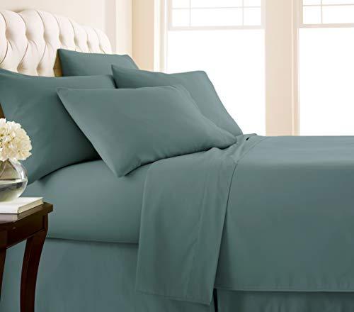 Southshore Fine Linens - 6 Piece - 21 Inch - Extra Deep Pocket Sheet Set (King, Steel Blue)