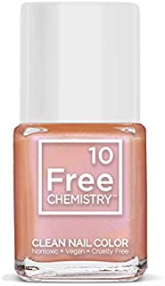 10+Free Chip Resistant Non-Toxic Clean Nail Polish (Mermaids Pearl)
