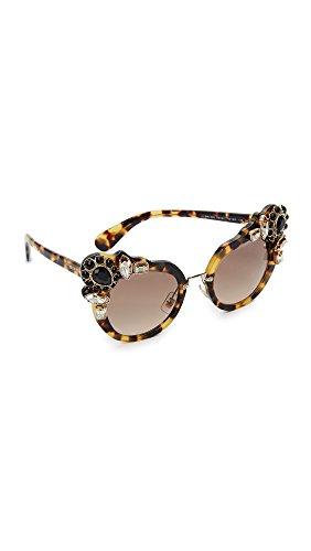 Miu Miu Damen 0Mu04Ss 7S03D0 52 Sonnenbrille, Braun (Light Havana/Browngradient)